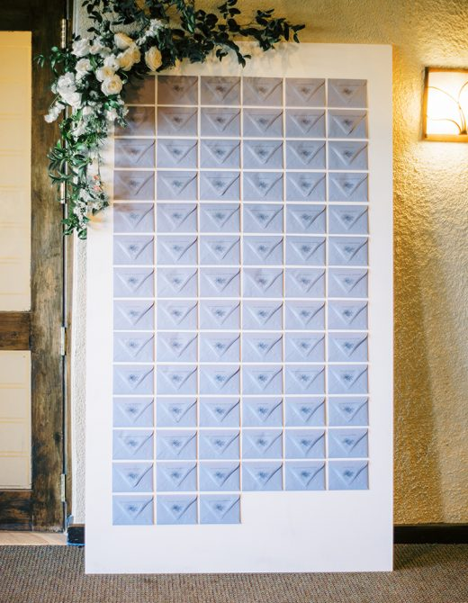 DIY Escort Card Wall Wedding
