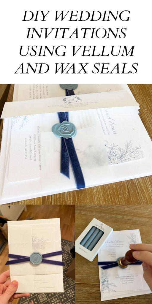 DIY Wedding Invitations Wax Seals Vellum