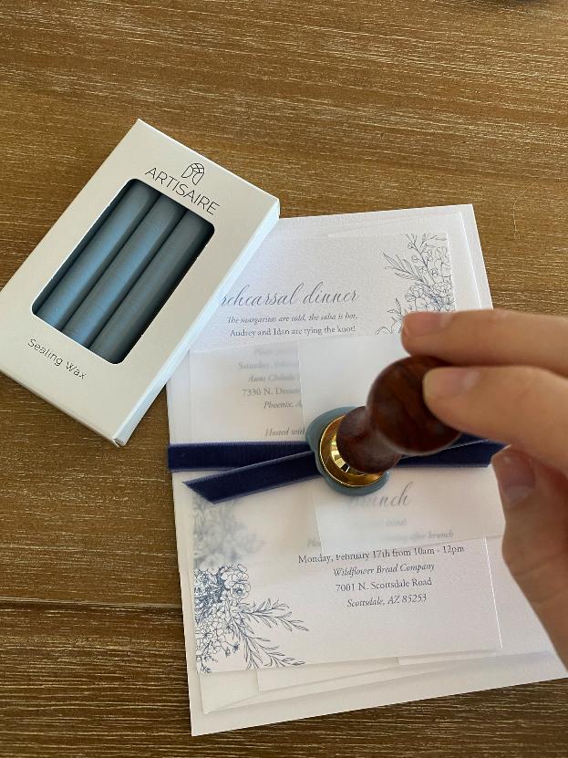 DIY Wedding Invitations Wax Seal Vellum